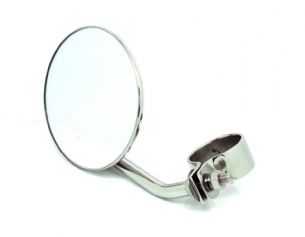 "Exhaust Mounted 5"" Round Chrome Rear View Mirror"